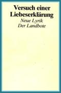 """Cover """"Versuch einer Liebeserklärung"""""""